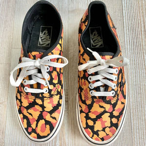 Vans Patterned Authentic Lace Up Sneakers